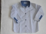 Chemise bleu claoir et blanche
