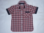 chemisette écossaise rouge